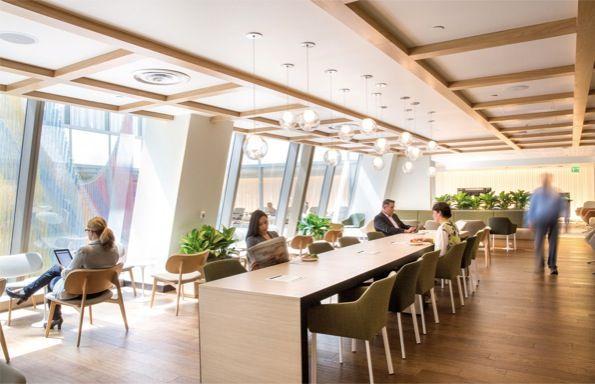 Qantas Business Lounge Lax Lounge Interiors Modern Office Decor Office Interior Design