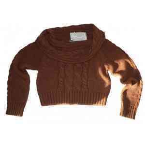 Френски пуловер, къс модел, марка Cache-cache, цена от сайт 84 евро, размер Л