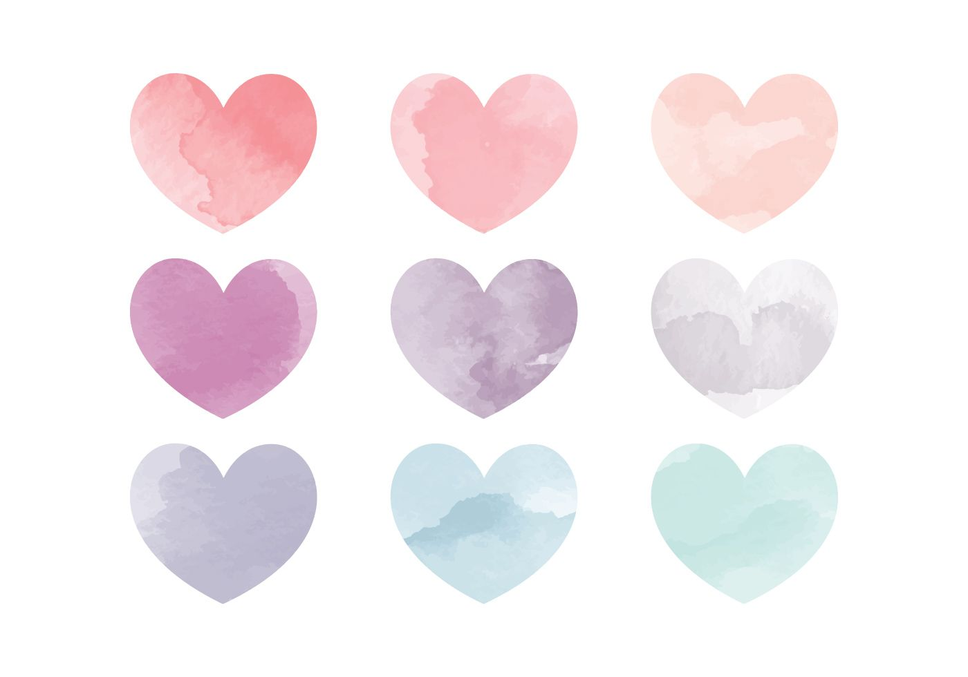 Vector Watercolor Hearts Choose From Thousands Of Free Vectors
