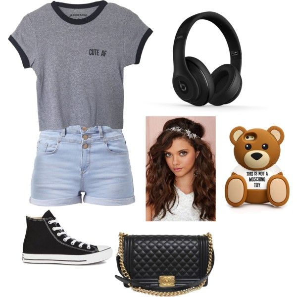 Old style by crownbae123 on Polyvore featuring polyvore, fashion, style, Converse, Chanel, Beats by Dr. Dre, Moschino and Berry