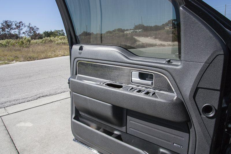 2010 2014 Ford Raptor F 150 Carbon Fiber Front Door Panel Inserts With Polished Trim 2pc Ford Raptor 2014 Ford Raptor Best Car Insurance