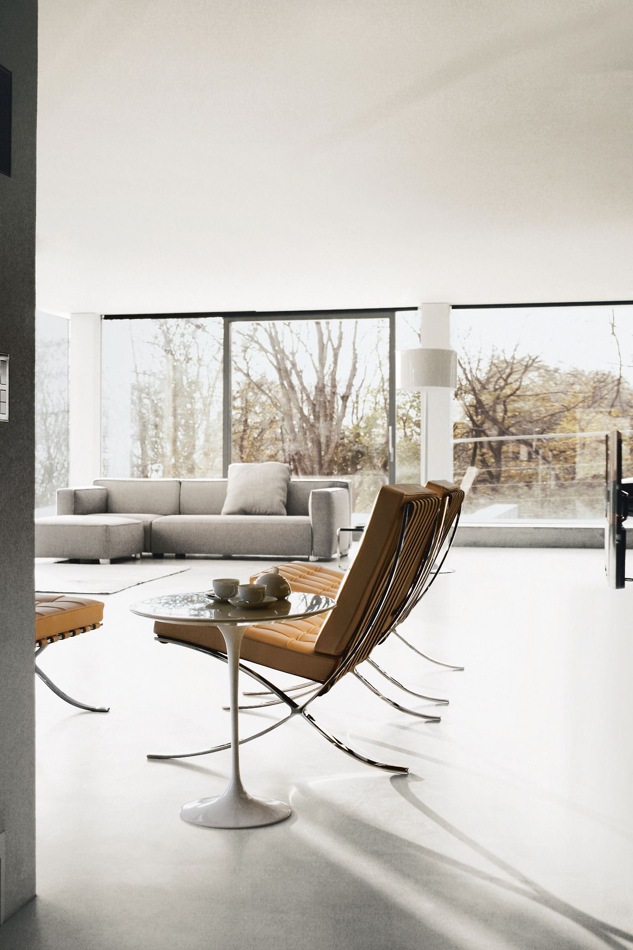 A timeless Pair Mies Saarinen Envision iconic designs by Mies and ...