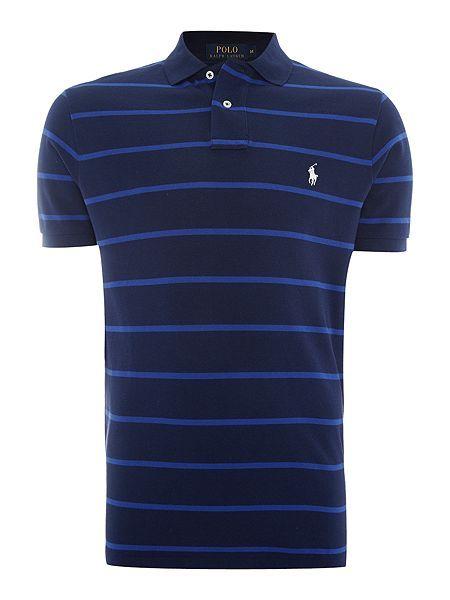 Short-Sleeve custom fit wide stripe mesh polo. Wide StripesPolo Ralph LaurenShort  ...