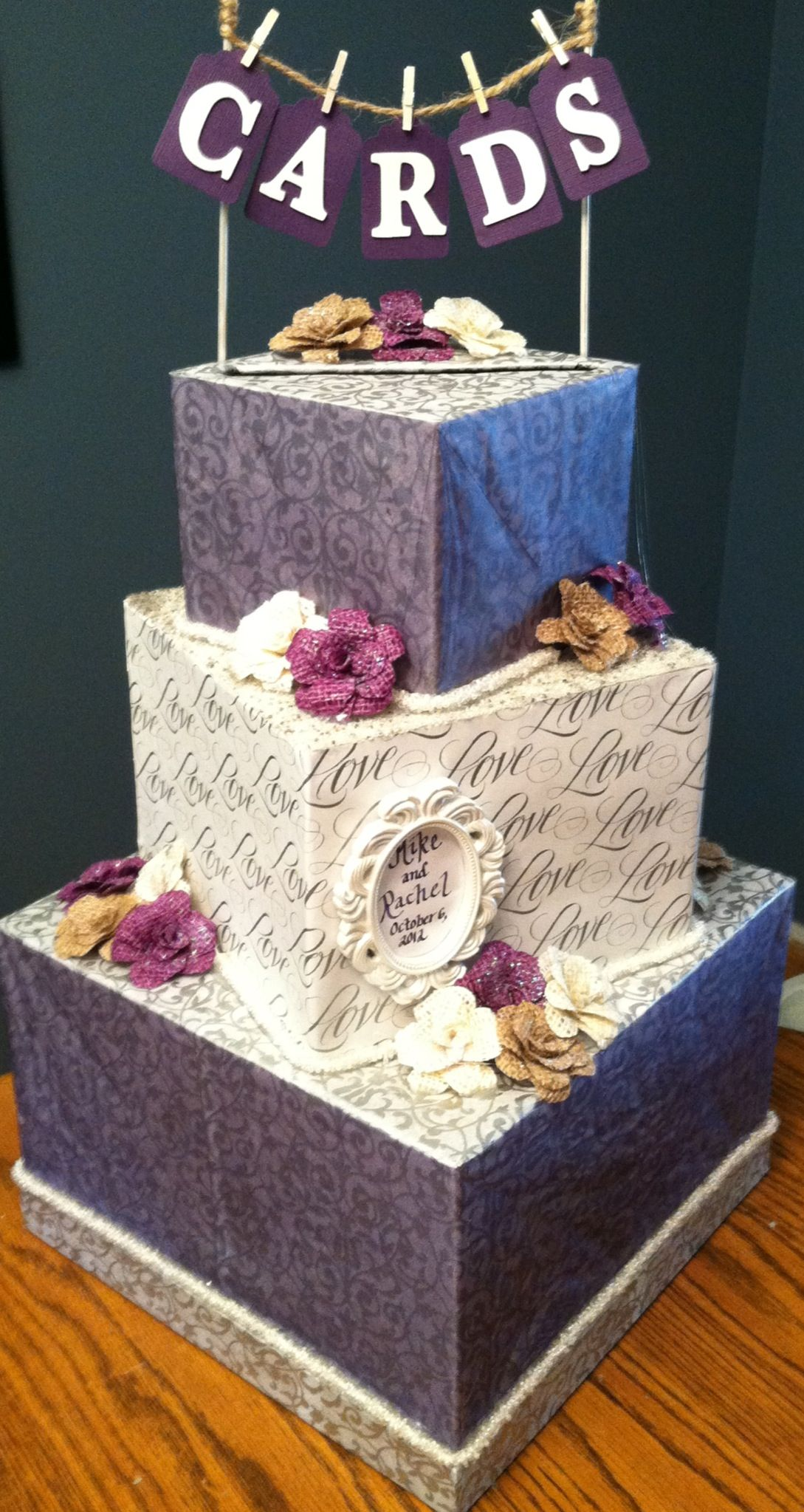DIY wedding card box! Will be doing it my colors Card