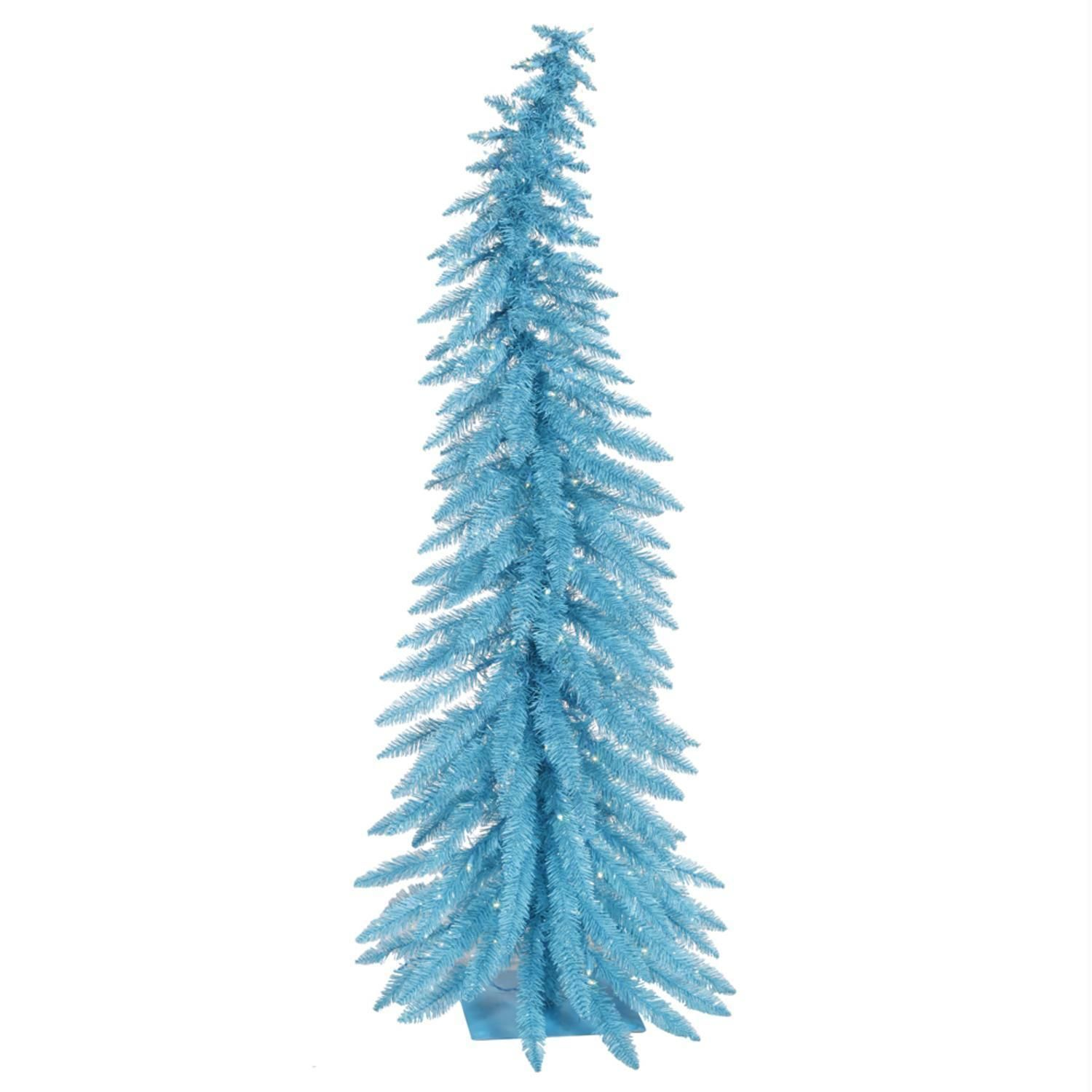 2 5 Pre Lit Whimsical Sky Blue Spruce Artificial Christmas Tree Lights