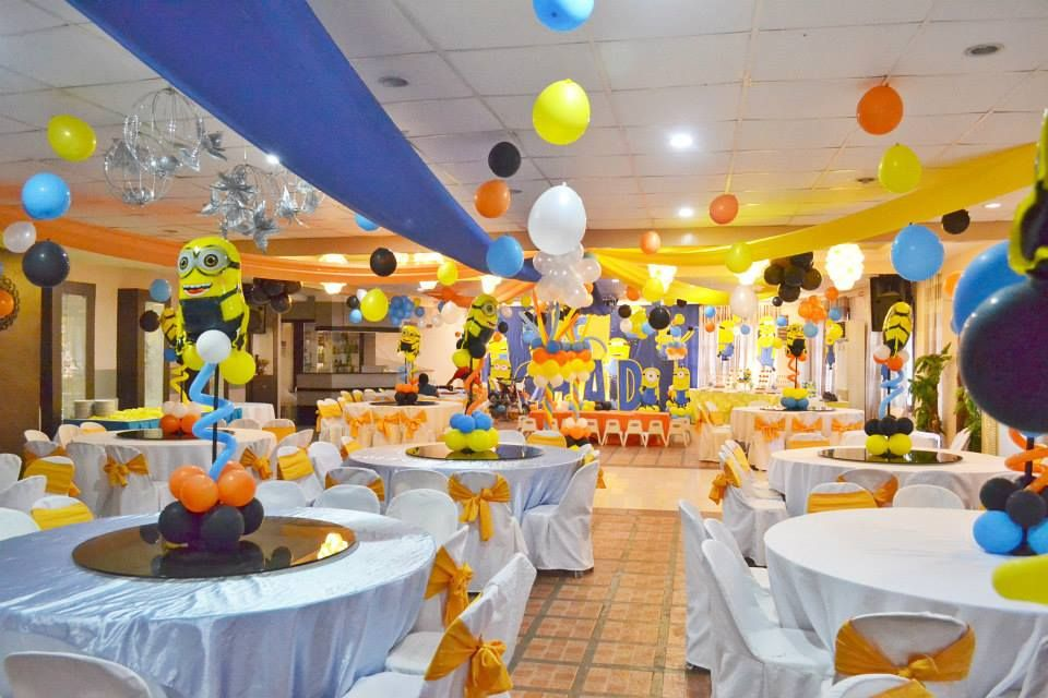 A huge minion despicable me 5th birthday celebration for 5th birthday decoration ideas