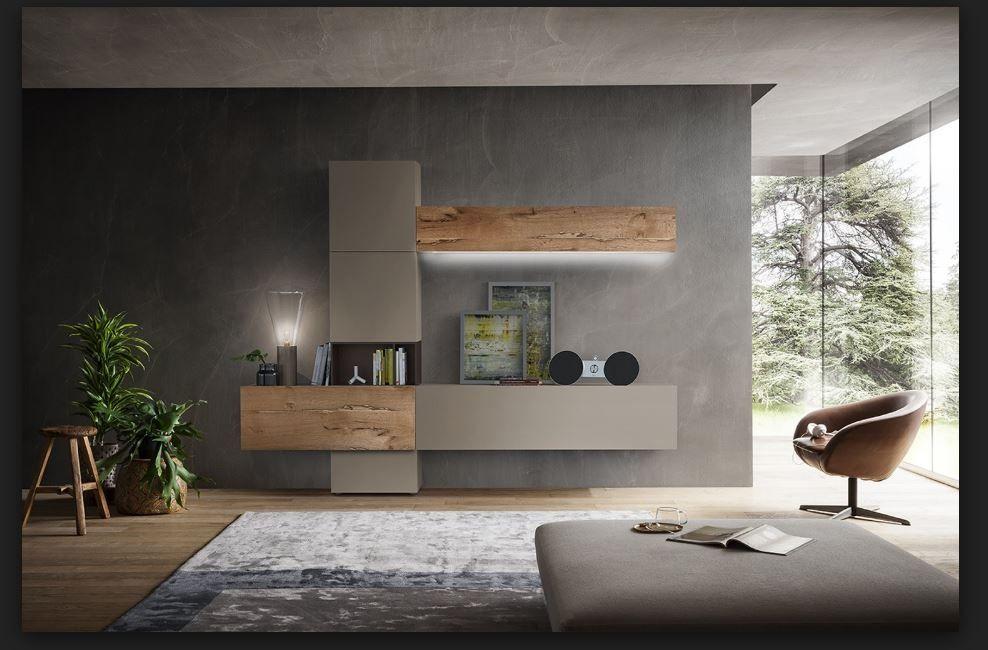 Composizioni Soggiorno Design ~ Composizione soggiorno appesa napol da cm 307 arredamento d