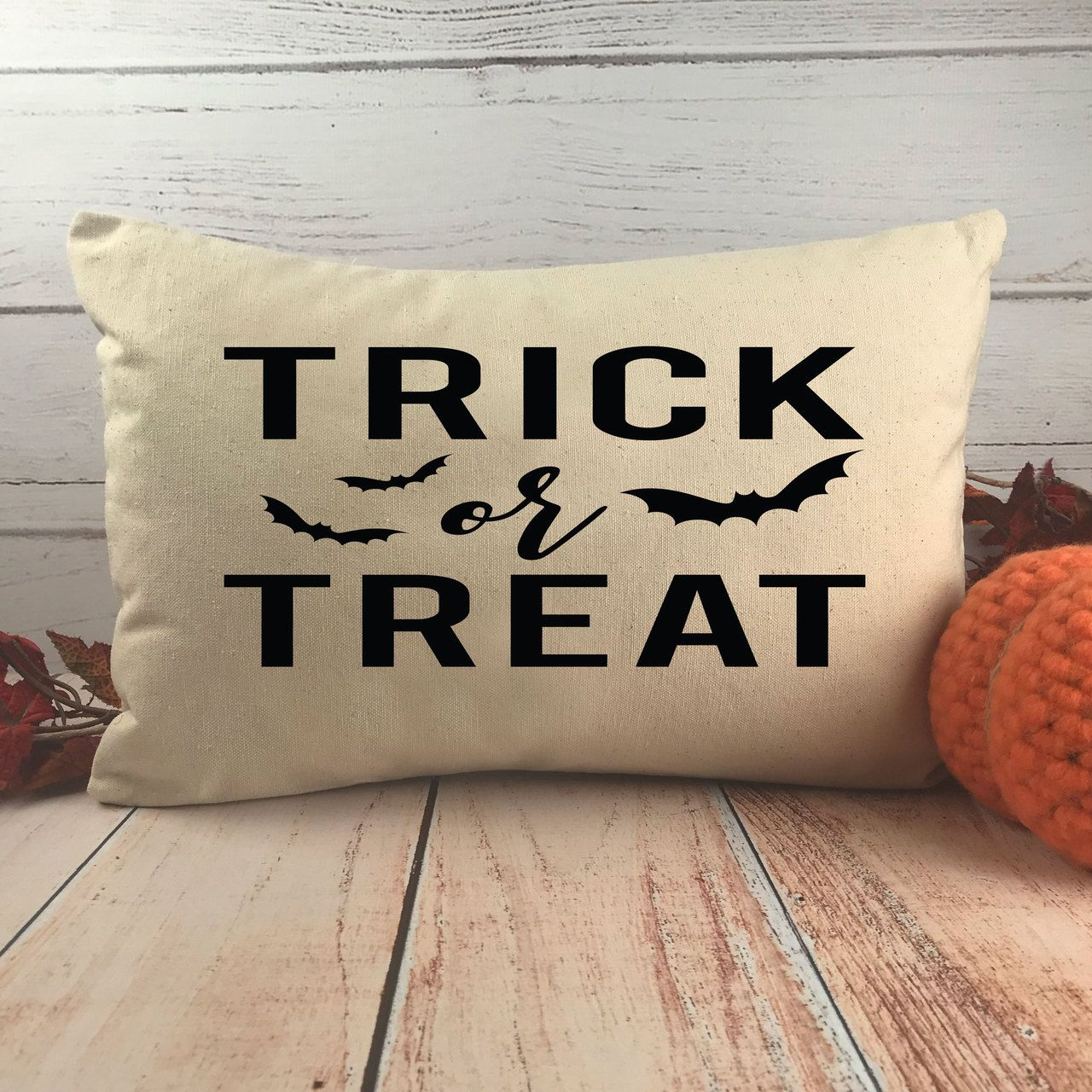 Trick Or Treat Halloween Throw Pillow