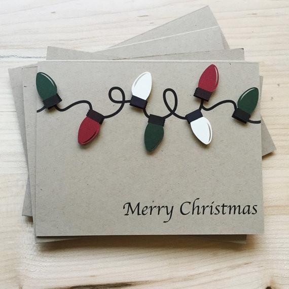 Christmas Lights Holiday Card Set Set of 8 Christmas Cards