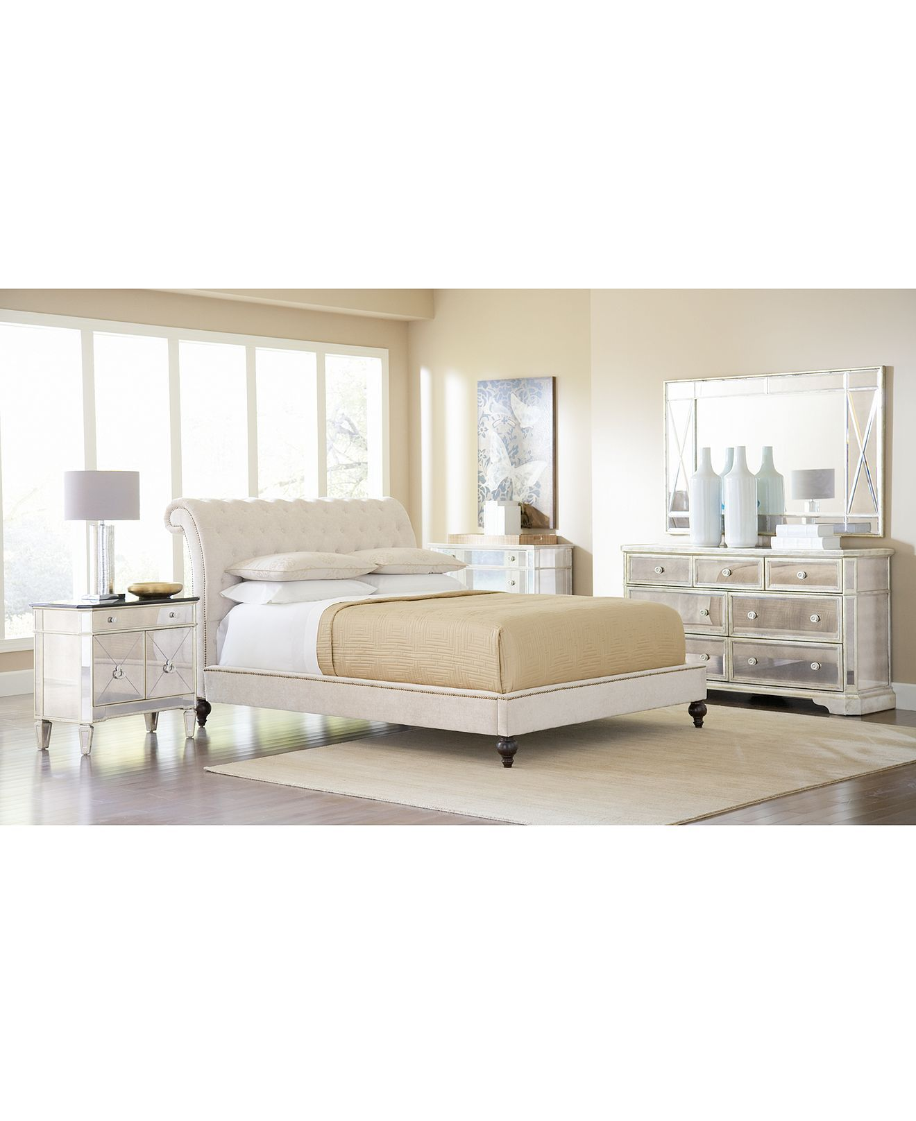 Mirrored Furniture Bedroom: Marais Mirrored Furniture Collection