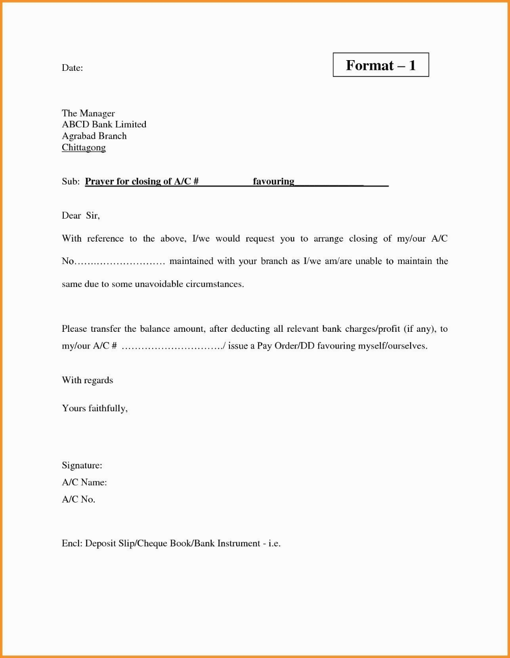 Letter Closing Joint Bank Account Seven Stereotypes About Grad Kastela For Account Closure Letter Template 10 Prof Letter Templates Lettering Letter Example