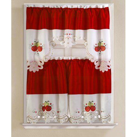 Home   Apple kitchen decor, Kitchen curtains, Kitchen ...