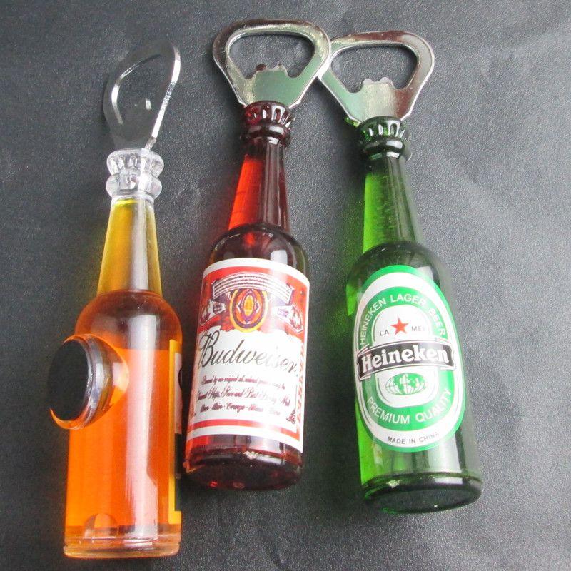 1pcthe bottle shape magnet creative fridge beer bottle opener beer soda glass cap bottle