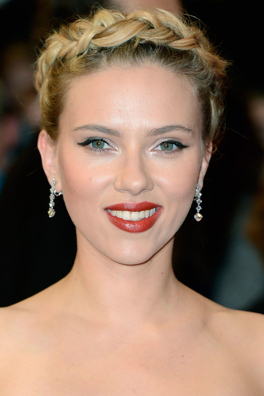 Scarlett Johansson Before And After Blonde Braids Bob