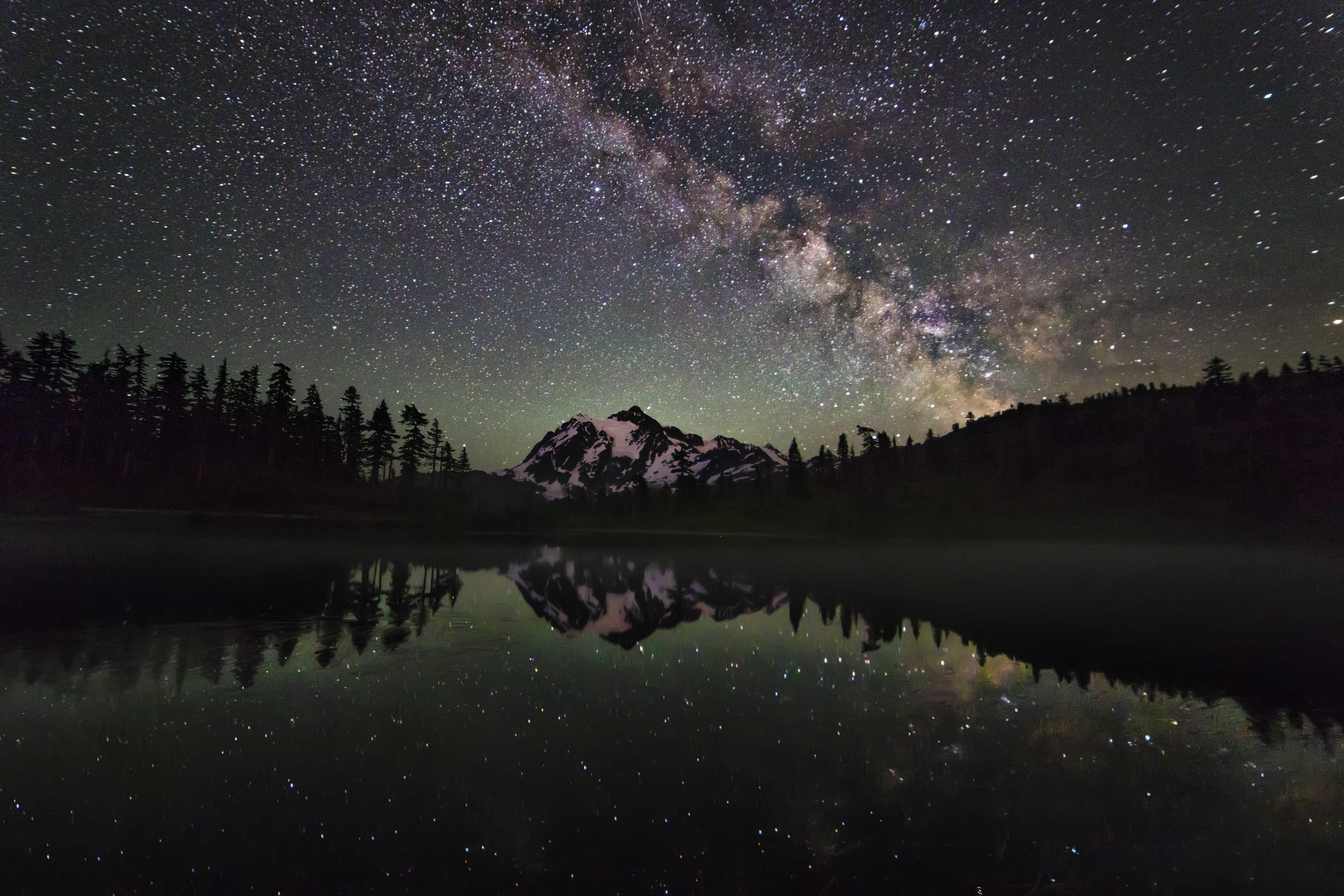 Mt shuksan and the milky way washington by andy porter x