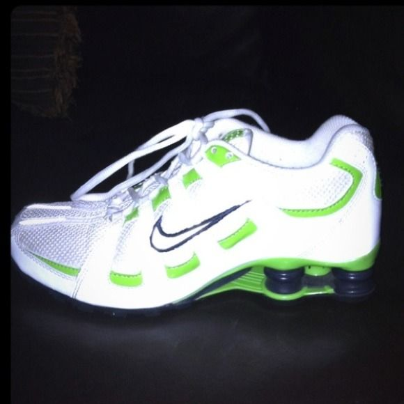 5e67ae251c793a I just discovered this while shopping on Poshmark  Neon Green Nike Shox  8.5. Check it out! Price   65 Size  8.5
