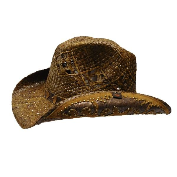 f33d29e470d47 Beautiful Peter Grimm drifter. Hand woven with flower inlay. Curled brim,  3