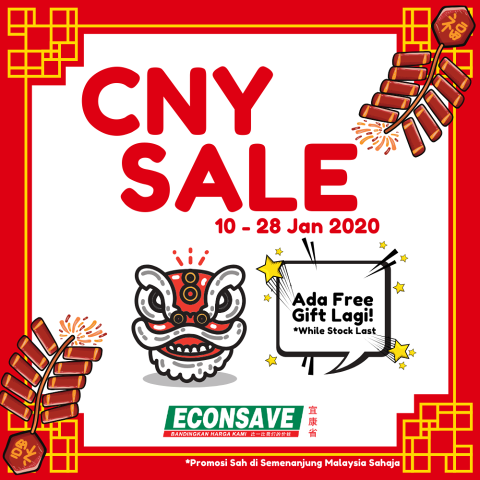 Econsave CNY Sale with FREE Gift Promotion (10 January