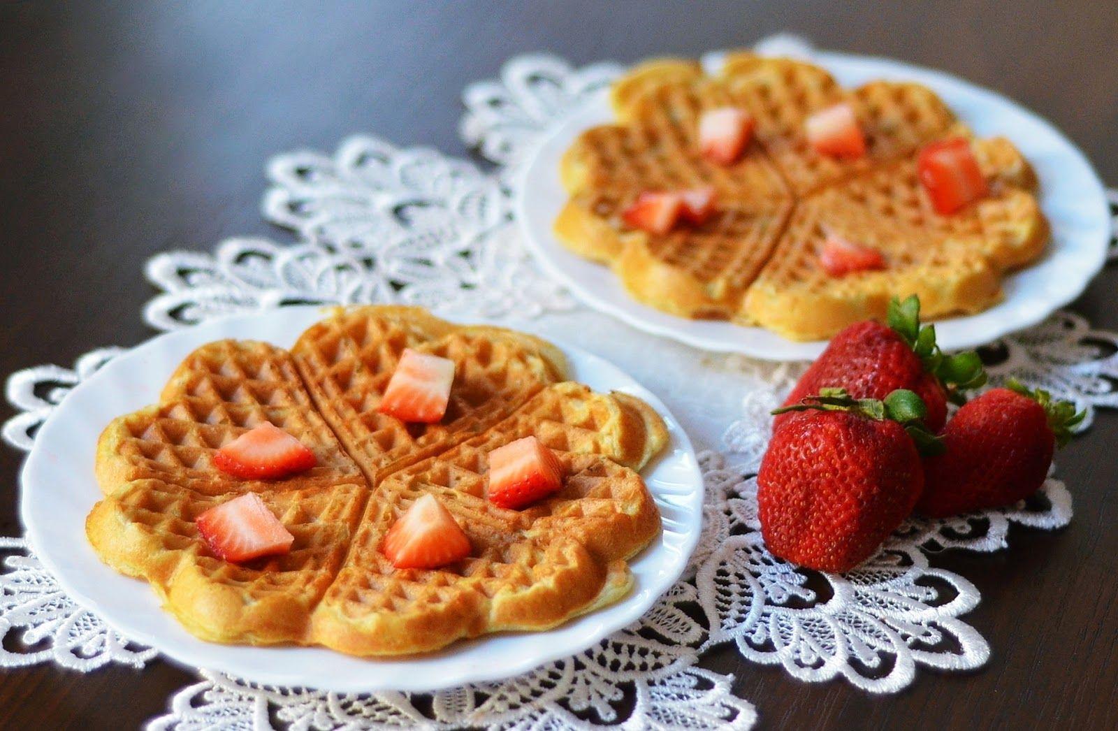 Healthy and delicious vegan coconut milk waffles at