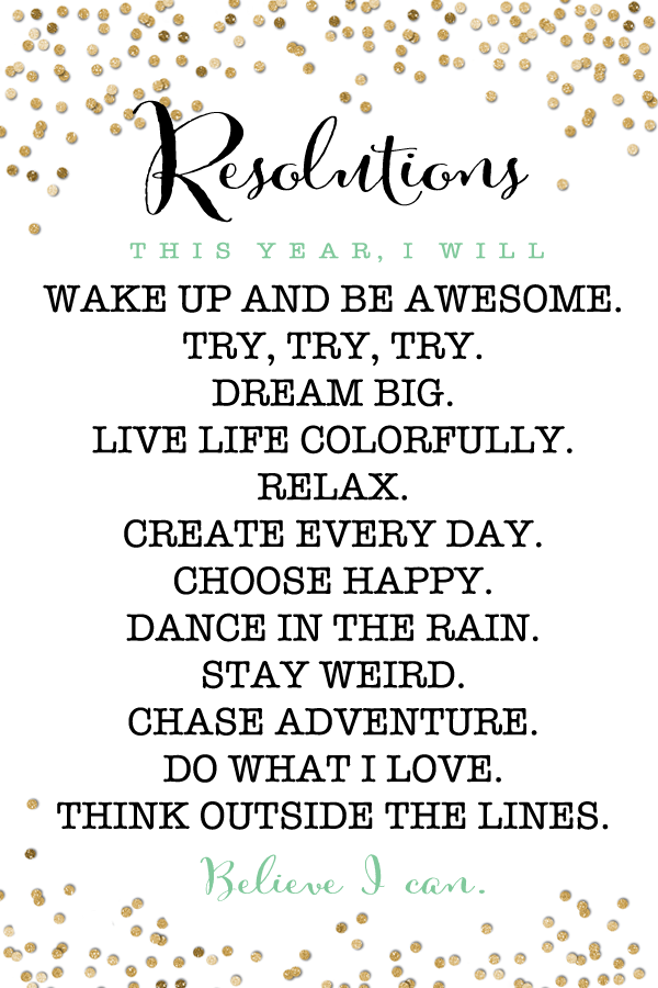 2015 resolutions free printable Quotes about new year