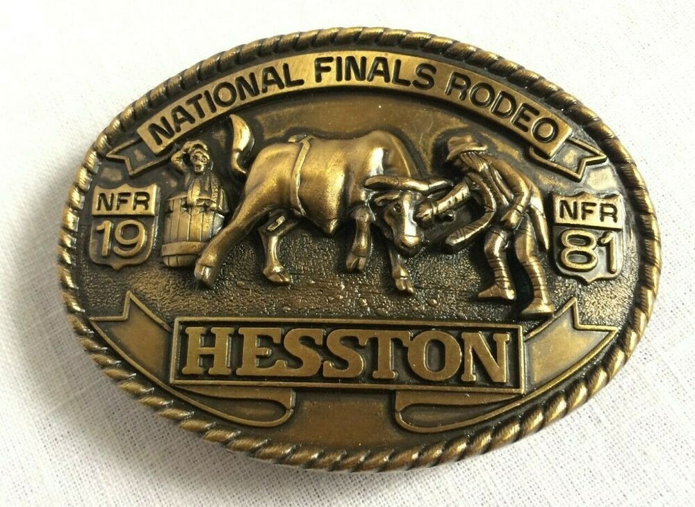 1981 Hesston National Finals Rodeo Cowboy  Belt Buckle