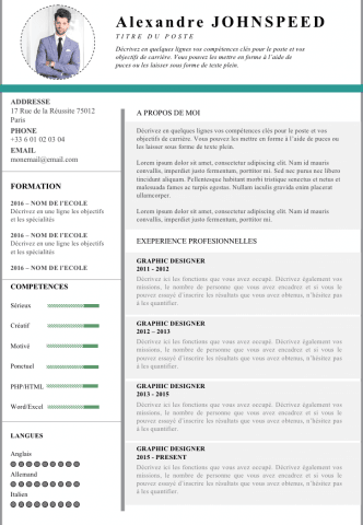 Cv Engineering Cv Modele  Mon Jardin  Pinterest  Cv Template