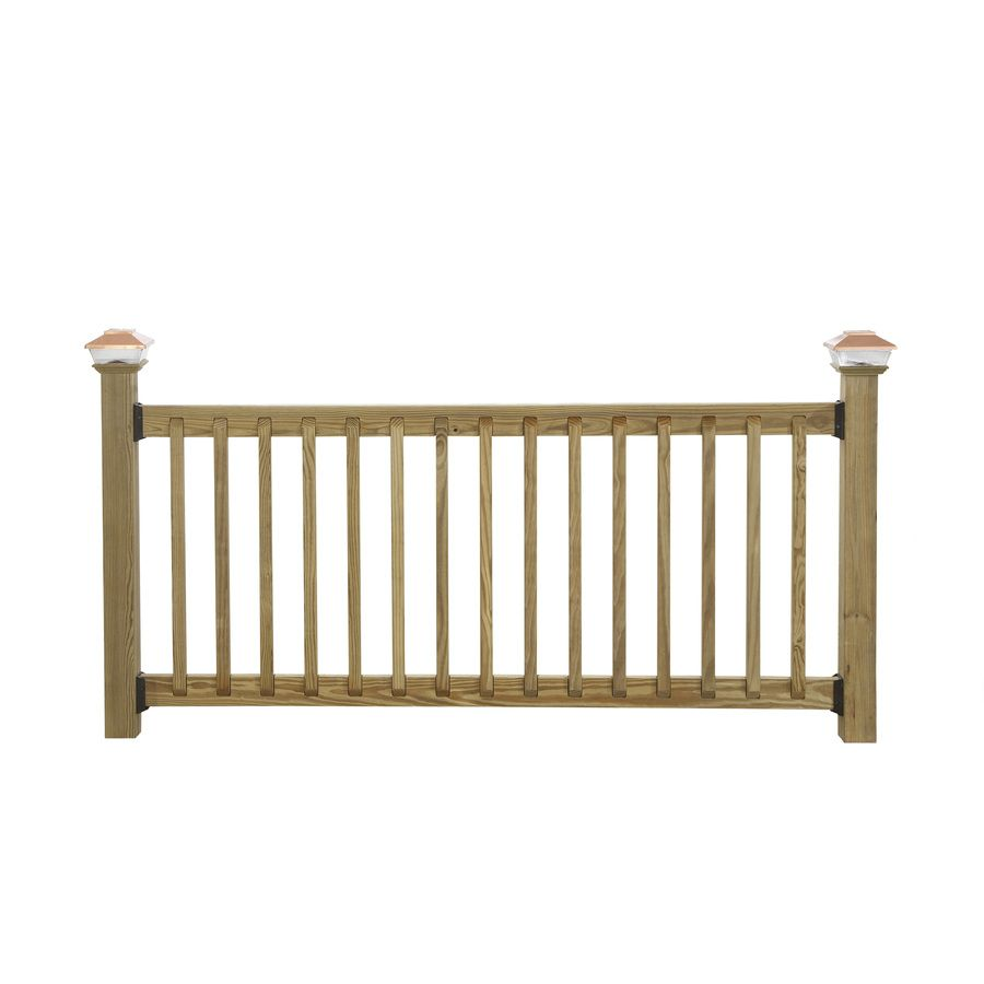 Shop Top Choice Mitered Acq Alkaline Copper Quat Treated Deck Baluster Common 2 In X 2 In X 36 In Actual 1 3 Deck Balusters Deck Railings Porch Materials