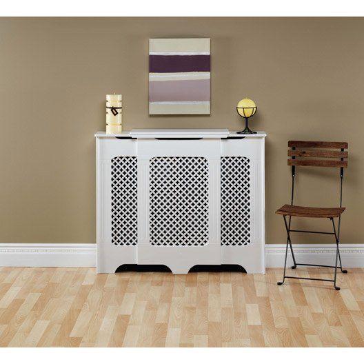 Cache Radiateur Classique En Medium Mdf Blanc Satine Ajustable Cache Radiateur Decoration Interieure Radiateur