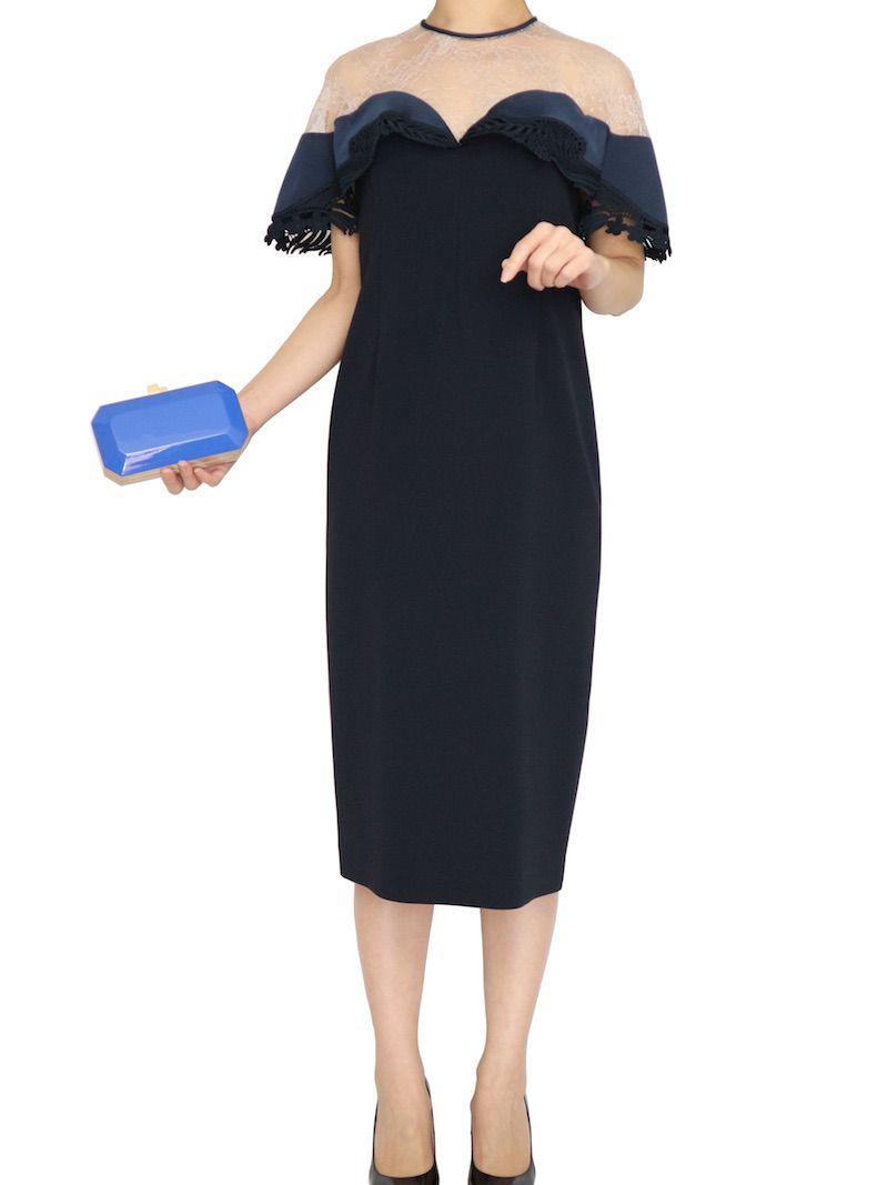 05159f59651a7 mame(マメ) リバーレースクラシカルドレス blue|THE DRESS ...