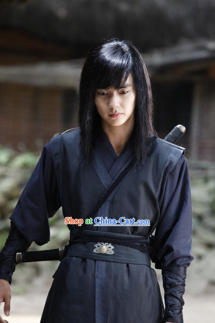 Traditional Korean Black Swordsman Costumes Korea Hanbok Pinterest Korean Costumes And