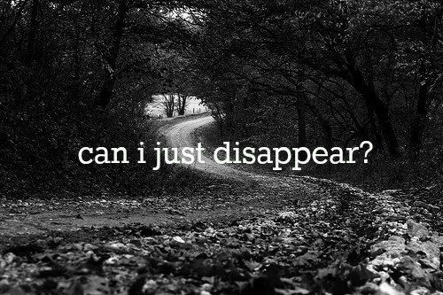 Quotes About Depression Can I Just Disappear Broken Hearted Sad Hurt Sad Quote Heart Broken .
