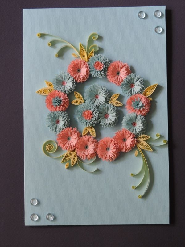 Открытки квиллинг хризантемы