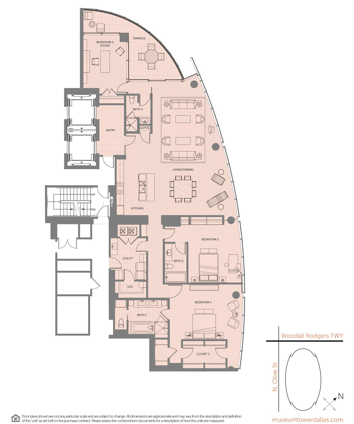 Museum Tower Offers A Variety Of Unique Downtown Dallas Condominium Floorplans Ranging From 1 800 Sq F Condo Floor Plans Floor Plans Architectural House Plans