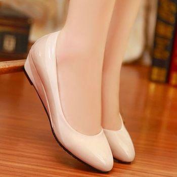 Mode talons bas moins pompes de la plate - forme chaussures élégantes chaussures de soirée Vintage moyen talons parti pompes mode chaussures de mariage