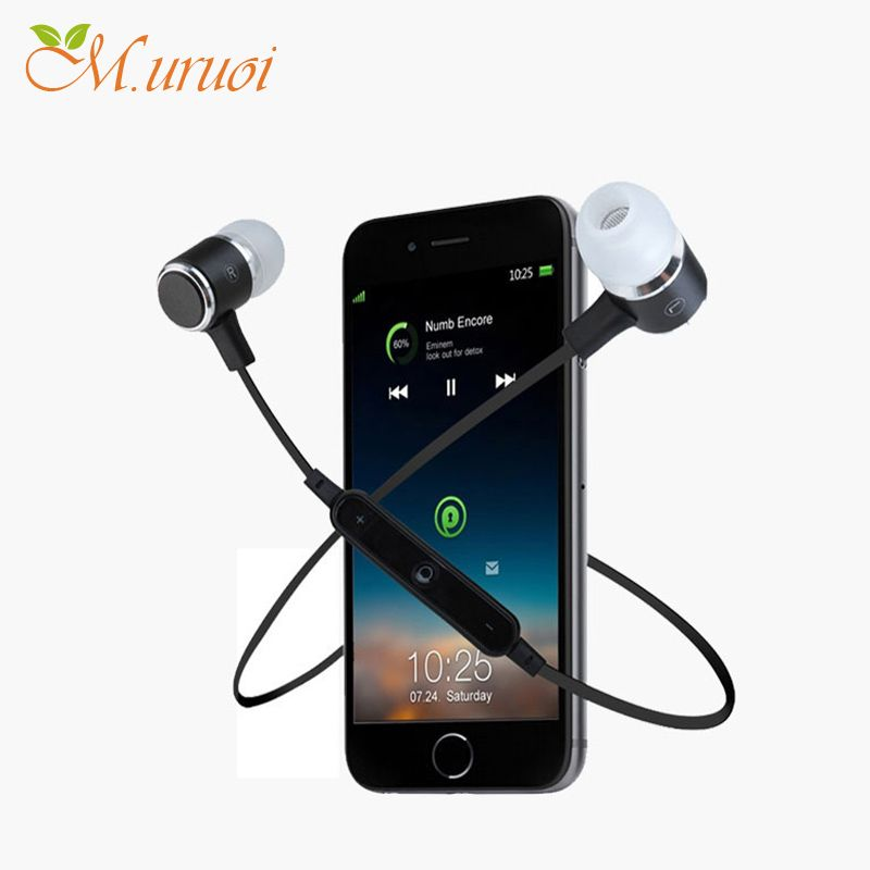 M Uruoi Bluetooth Headset Sport Kulakl K In Ear Monitor For Iphone Earphone Wireless Microphone Ear Phones M Iphone Earphones Bluetooth Headset In Ear Monitors