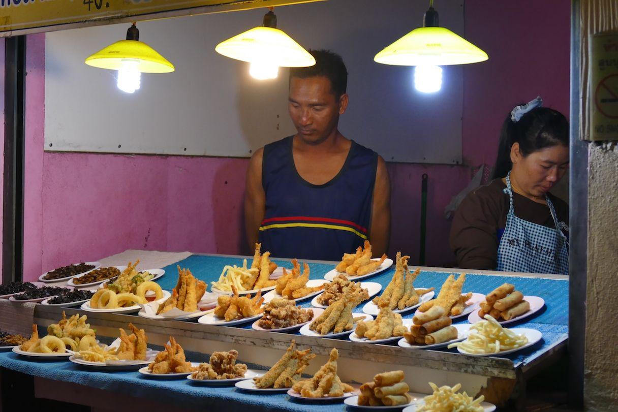 Chiang Rai, Leckeres auf dem Night Bazar
