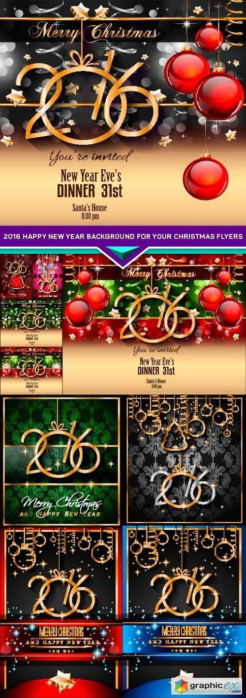 2016 happy new year background for your christmas flyers 10x eps stock images