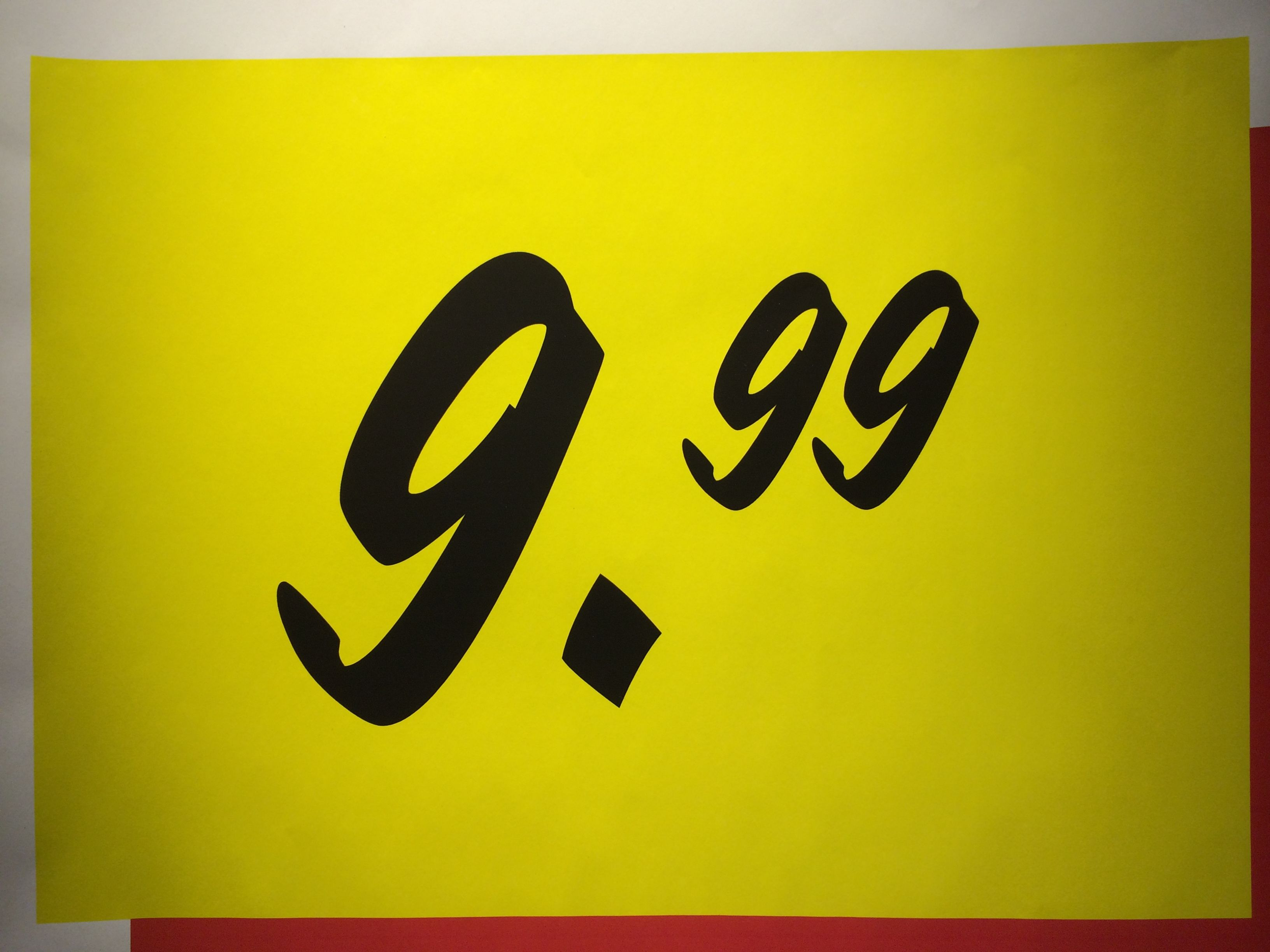 Yellow 9,99 Tag (August 17 2014, IKEA, Utrecht The Netherlands)