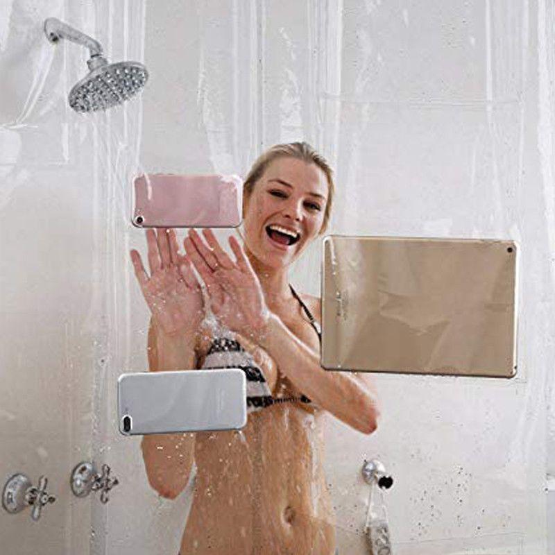 Clear Shower Bath Curtain Liner Ipad Tablet Iphone Waterproof Phone Holder Mount Fangjane Waterproof Phone Ipad Tablet Shower Bath