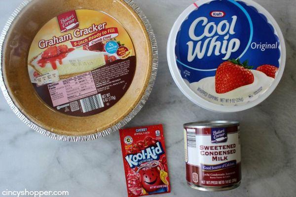 No Bake Cherry Kool Aid Pie Recipe Kool Aid Pie Recipe Kool Aid Koolaid Pie