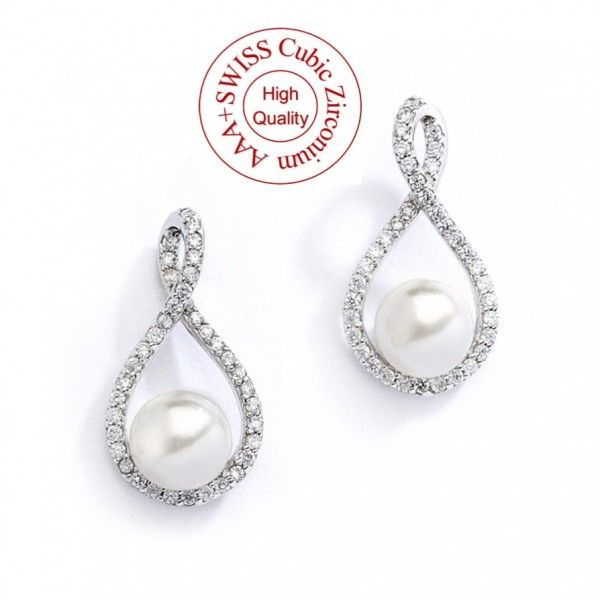 Boucles d'oreilles mariage perle Eternity - ODAZZ Mariage