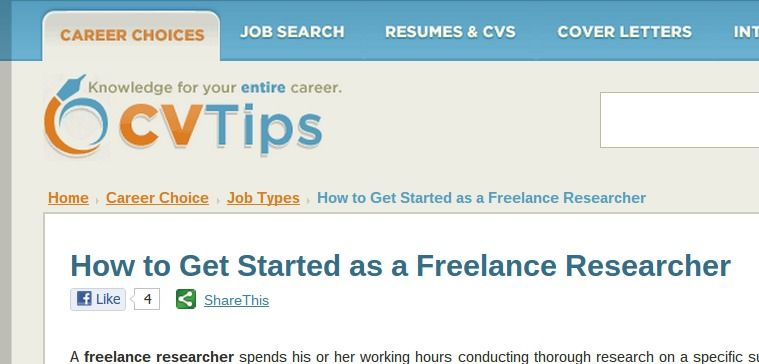 How to get started as a freelance researcher jobbingtarget - freelance researcher sample resume