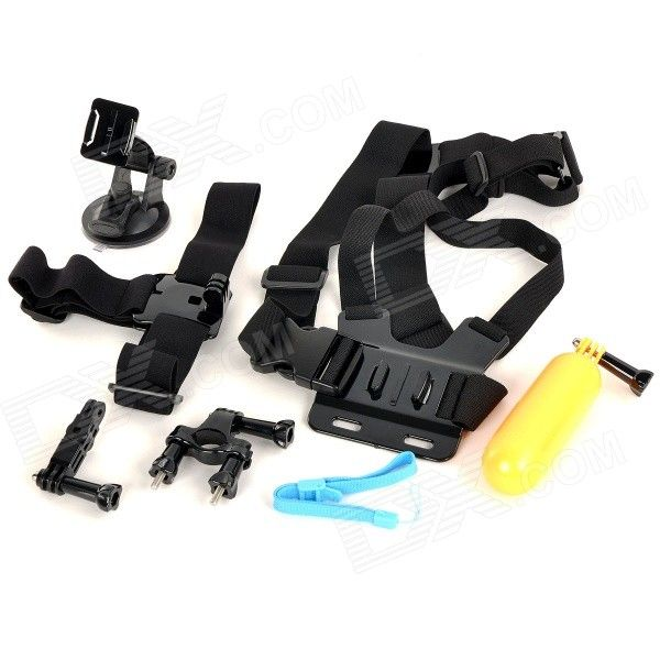 6-in-1 Chest Belt / Bike Mount / Floating Grip Handle Mount + More for GoPro Hero 2, 3, 3+