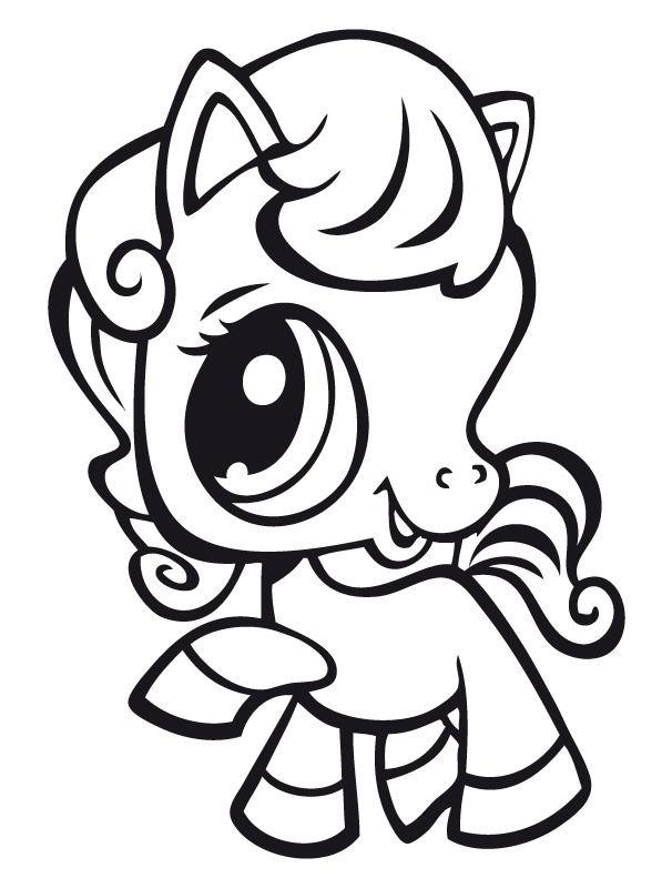 Coloriage dessins littlest pet shop 18 coloriage enfant pinterest - Coloriage en ligne cheval ...