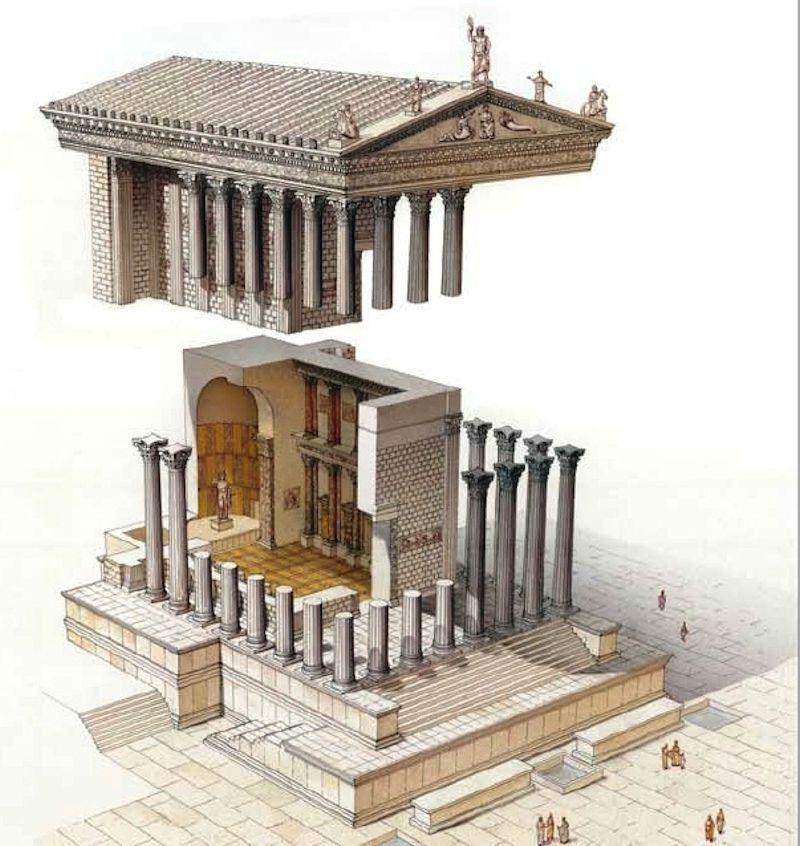 The Twelve Caesars Arjuna Vallabha Description Of A Roman Temple Ancient Roman Architecture Greek Buildings Ancient Greek Architecture