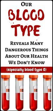 5 Things Your Blood Type Says About Your Health - amazing health and fitness....... - #amazing #Bloo...