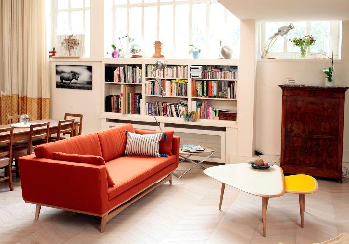 Canapé design Fifties Feutre ROUILLE | maison | Pinterest | Salons ...