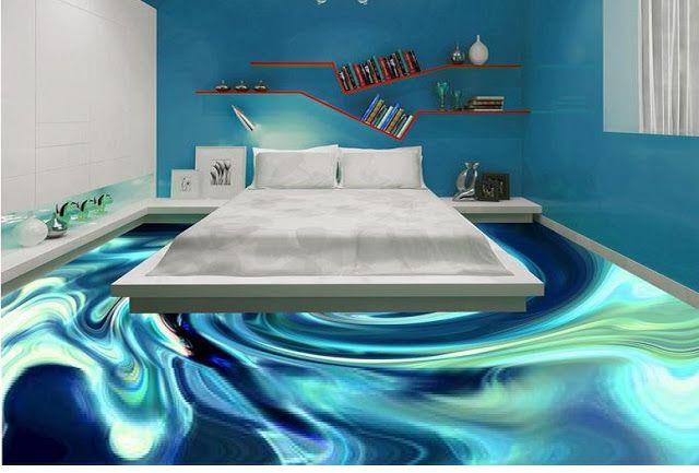 Awesome 3d Flooring Art And 3d Bathroom Floor Murals Floor Design Living Room Tiles Modern Living Room Interior