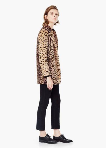 Manteau léopard en fourrure synthétique   MANGO   ++STYLE++ ... 099d94239d4a