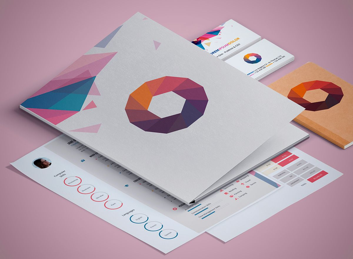 Branding Mockup Templates For Stationery 50 Items Design Shock Branding Design Creative Branding Design Creative Branding